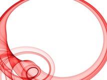 Trame ovale rouge illustration stock