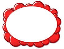 Trame ovale rouge de bulle illustration de vecteur