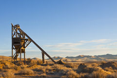 Trame principale de puits de mine Photo stock