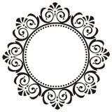 Trame ronde avec l'ornement floral Illustration Stock