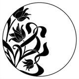 Trame ronde avec l'ornement floral Illustration Libre de Droits