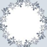 Trame ronde avec les fleurs bleues illustration libre de droits