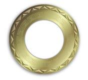 Trame ronde d'or de cru Image stock