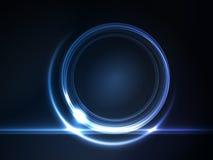 Trame ronde rougeoyante de bleu pour votre texte illustration libre de droits