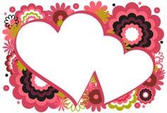 Trame rose foncée de coeur Photo stock