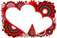 Trame rouge de coeur Photos stock