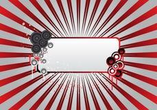 Trame rouge des textes de réception Photos libres de droits