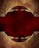 Trame rouge grunge Élément pour la conception Calibre pour la conception copiez l'espace pour la brochure d'annonce ou l'invitati illustration libre de droits
