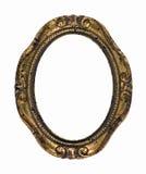 Trame rouillée d'ovale d'or de cru photo libre de droits