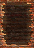 Trame sale de mur de briques Photographie stock