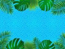 trame tropicale carte tropicale d'invitation Arrosez le fond extérieur Papier peint d'été Contexte rayé de vecteur abstrait aqueu illustration libre de droits