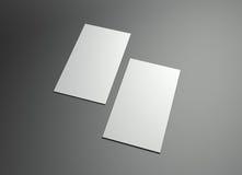 Trame verticale de namecard Photographie stock