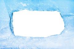 Trame vide de glace bleue Photographie stock