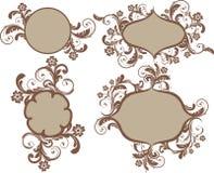 trames avec des fleurs illustration de vecteur