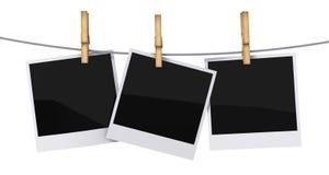 Trames blanc de photo Image libre de droits