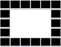 Trames blanc de photo Photo stock