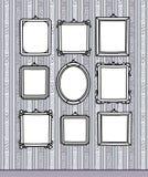 Trames blanc sur le papier peint illustration stock