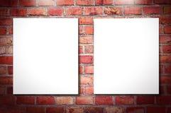 Trames blanches sur le mur de briques illustration de vecteur