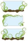 Trames brouillées illustrées tirées par la main de vigne illustration stock