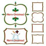 Trames de Noël réglées Illustration de Vecteur