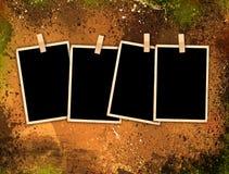 Trames de photo de cru sur le fond grunge de type Photos libres de droits