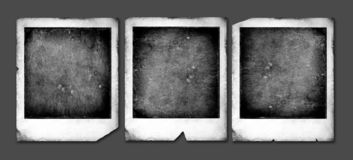 Trames de polaroïd de cru Images stock