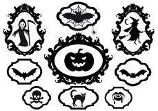 Trames de Veille de la toussaint, vecteur Image stock