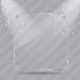 Trames en verre réalistes. Illustration de vecteur Images libres de droits