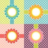Trames florales Photo libre de droits
