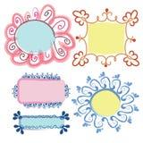 Trames florales réglées Images stock