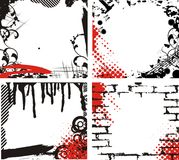 Trames grunges illustration stock