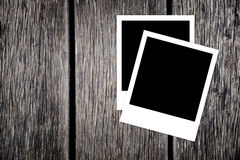 Trames instantanées blanc de photo Photographie stock