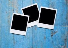 Trames instantanées blanc de photo Images stock