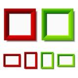 Trames rouges et vertes de photo Photographie stock