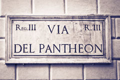 Tramite piatto della via di del Pantheon, Roma, Italia Fotografia Stock Libera da Diritti