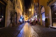 Tramite via di Pastini di dei a Roma Fotografia Stock Libera da Diritti