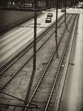 Tramline Stockbild