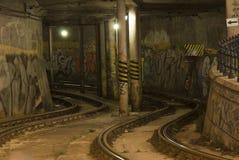 Tramline in de tunnel Royalty-vrije Stock Afbeelding