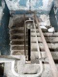 Tramo de escalones abandonado Imagen de archivo libre de regalías