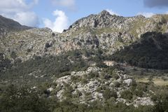 Tramontana Mountains near Lluc; Majorca. Spain royalty free stock images