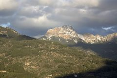 Tramontana Mountains near Soller, Majorca. Spain Stock Photos