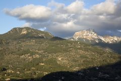 Tramontana Mountains near Soller; Majorca. Spain Royalty Free Stock Photos