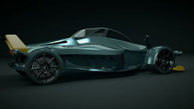 Tramontana supercar concept stock footage