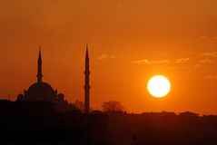 Tramonti a Costantinopoli Immagini Stock