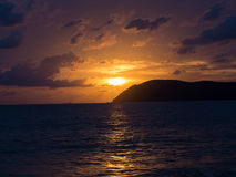 Tramonti dell'oceano Fotografia Stock