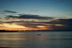 Tramonti di Bali Fotografia Stock Libera da Diritti