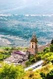 Tramonto Abruzzo, Italia di Rocca Calascio fotografia stock