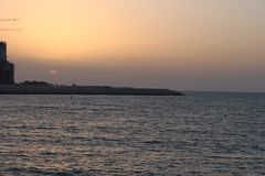 Tramonto Abu Dhabi fotografie stock libere da diritti