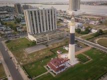 Tramonto aereo in mulino a vento di Atlantic City immagine stock