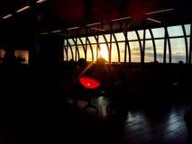 Tramonto in aeroporto Fotografie Stock